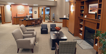 Baker Boyer Bank Community Living Room